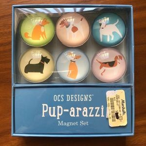 Pup-arrazi Magnet Set (Six dog magnets)
